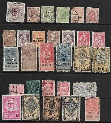 Early Romania Stamps in Stock Sheet