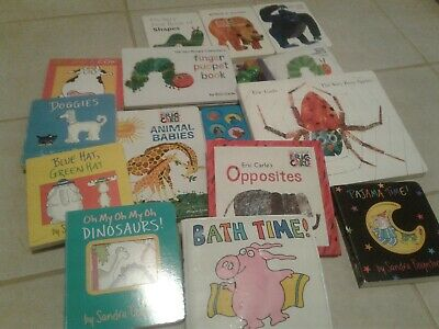 Eric Carle Board Books, Finger Puppet, Talking Animal Babies, Busy Spider,+++