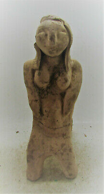 Scarce Circa 3000-2000Bce Ancient Near Eastern Soumerian Terracotta Worshipper