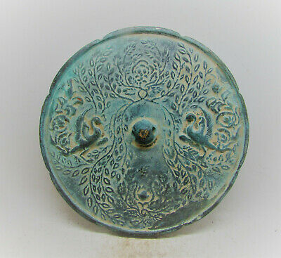 Extremely Rare Ancient Chinese Han Dynasty Bronze Mirror Lovely Decoration