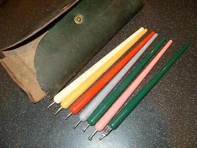 Vintage Gestetner Rolling Pen Set - As Photo
