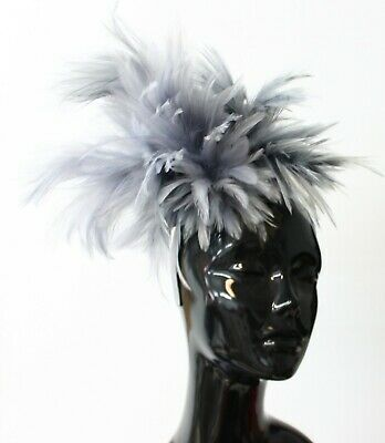 Caprilite Full Feather Large Fascinator on Headband for Weddings and Races