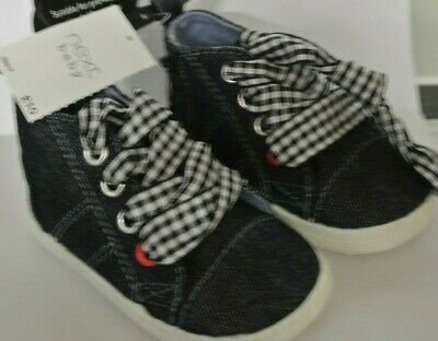 New Next Baby Boys/girls Bootee Trainers Navy Blue size 1  3-6 months