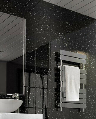BLACK  SPARKLE  5mm  Bathroom PVC Cladding Plastic Shower Wall Panels wet wall