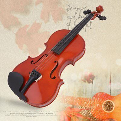 4/4 High Grade Solid Wood Handmade Acoustic Violin Fiddle With Carry Case 4H