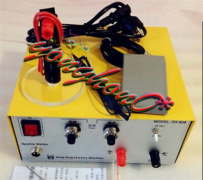 110V/220V 2in1 80A DX-808 Pulse Sparkle Spot Welder Gold Silver Jewelry Machine