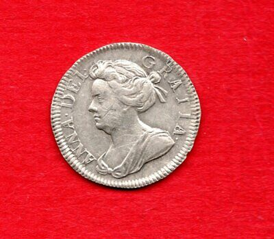 1703 Sterling Silver Maundy Twopence Coin. Queen Anne.