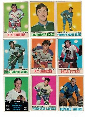 1970-71 OPC NHL Hockey Lot - Pick only the cards that you need - $2 each VG-EX