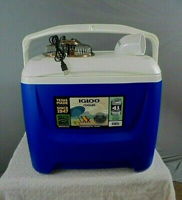 Igloo 28qt DIY Style Portable Air Conditioner- Swamp Cooler W/ USB Plug Fan #2