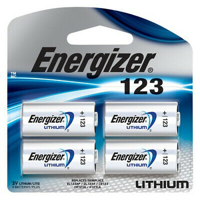 4 Energizer CR 123 3v Lithium Batteries DL123 123 EL123 (Sealed Pack) FRESH DATE