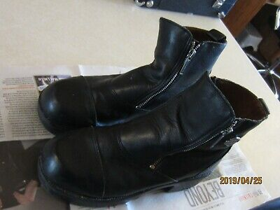 ab12c6575fb Harley Davidson Women s Black Leather Boots Double Zipper Size 9
