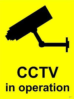 CCTV In Operation Reverse Print Window Sticker Qty 1,5,10,50 Free Delivery