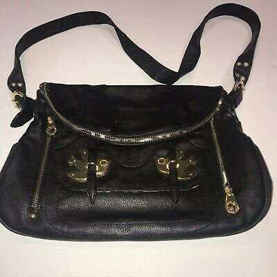 93eef8587897 Marc by Marc Jacobs Petal to the Metal Bird Black Leather Crossbody Purse