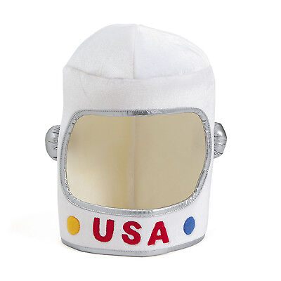 USA Polyester Astronaut Helmet Hat Costume Space Birthday Halloween Party Event