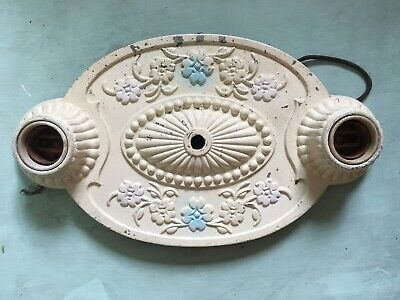 Old Art Nouveau Deco Cast Metal Ceiling Wall Sconce Architectural