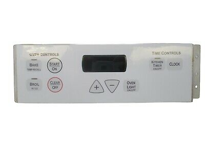 191D3776P009 WB27T10818 GE Bisque Stove Range Control *1 ... on