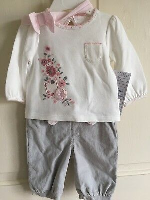 BNWOT F&F Sample 2 Piece Set/ Outfit. Girls. Age 0-3 Months. Top & Trousers