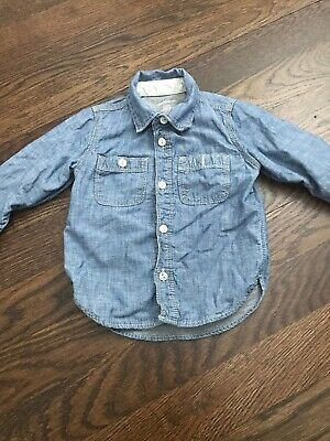 Baby Gap Lined Chambray Button Down Shirt 2 2T