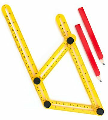 Angle Finder For Contractors, Handymen & DIY-ers | Multi-Angle Measuring Rule...