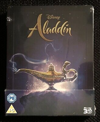 Disney Aladdin (3D & 2D Blu-ray discs, 2019) Pre-order UK Steelbook SEALED