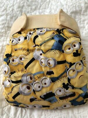 gdiapers medium gpant recovered with Despicable Me Minion Fabric
