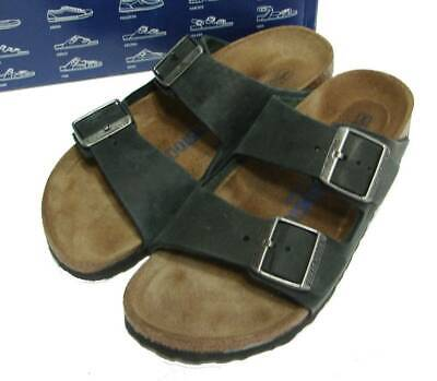 Birkenstock arizona soft footbed iron narrow