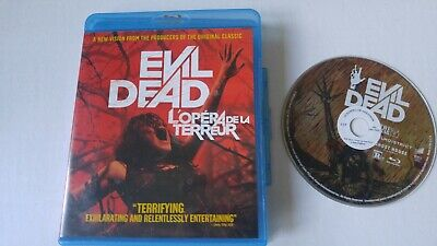 Evil Dead Bluray Disc horror bilingual