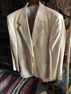 •Hand Tailored in USA Maize Sport Coat Jacket   40R NEW