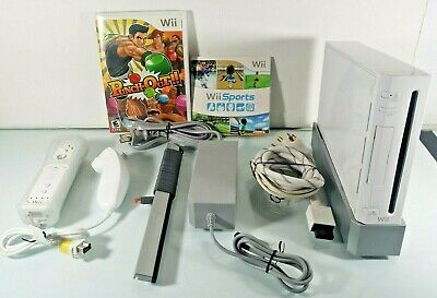 Nintendo Wii Console White System RVL-001 Complete Bundle