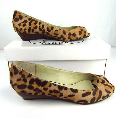 0edc4aa8ed7 STEVE MADDEN FEATHER-L Calf Hair Leopard Print Loafers 8 M - $61.99 ...