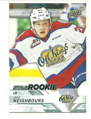 18/19 Upper Deck CHL Jake Neighbours Edmonton Oil Kings Star Rookie SP #382