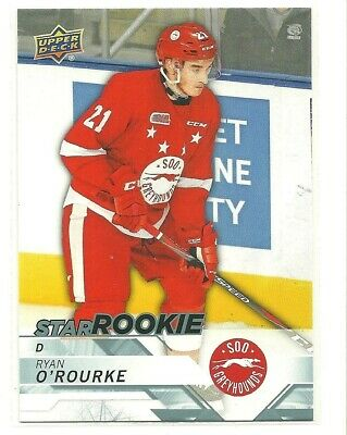 18/19 Upper Deck CHL Ryan O'Rourke Soo Greyhounds Star Rookie SP #356