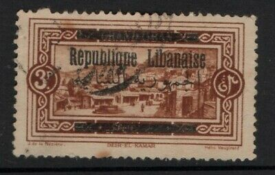 Lebanon 1928 Views Arabic and Republic Overprint 0.10p SG128 Used