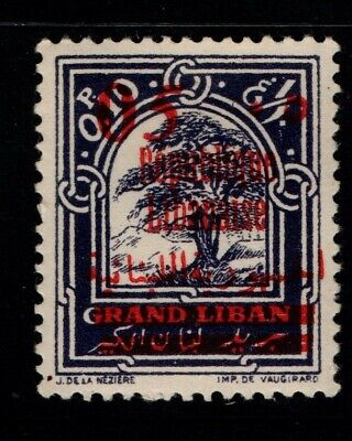 Lebanon 1928 Views Arabic and Republic Overprint 05 on 0.10p SG145 Mint MH