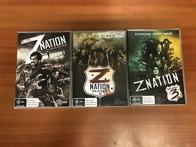 DVD # Z Nation Season 1 2 3 - Mad Max Meets The Walking Dead - All In Good Cond
