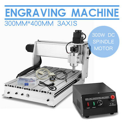 300W 3040 3 Axis CNC Router Engraver 3D Engraving Drilling Milling Machine