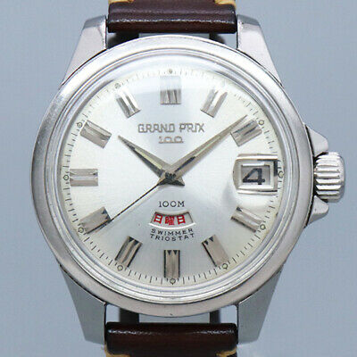 8d7638c62563 Free Shipping Pre-owned ORIENT GRAND PRIX 100 T19420 Antique Watch Made 1965