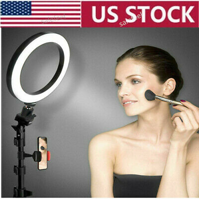 """US stock 6"""" Selfie Ring Light w/ Tripod Stand Cell Phone Holder for Live Stream"""