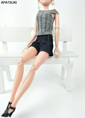 Dark Blue Fashion Doll Clothes Jeans Shorts For 11.5in Doll Outfits Clothes Toy