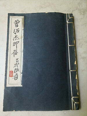 Vintage Chinese Calligraphy Seal Marks Book Not Painting