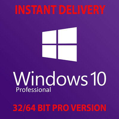 Microsoft Windows 10 Professional Pro 32/64-Bit Win 10 Genuine Activation Key