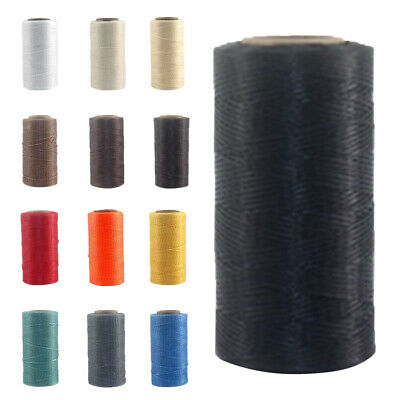 260M Waxed Polyester Cord String Thread Beading DIY Leathercraft Making 19-Color