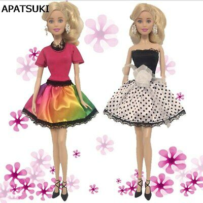 Fashion Doll Dress For 1/6 Dolls Lace One Piece Dress Clothes For 11.5in Doll