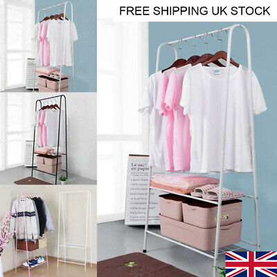 Clothes Rail Rack Garment Dress Hanging Display Stands Shoes Rack Storage Shelf