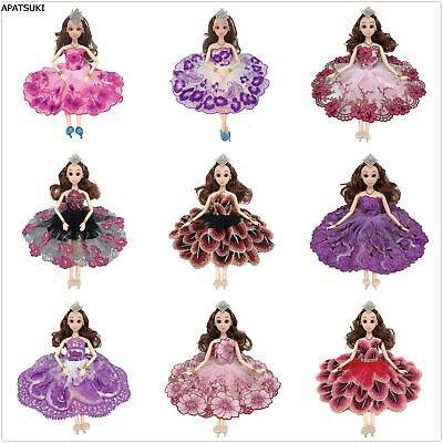 9pcs/lot Fashion Dancing Costume Doll Dress Party Gown Clothes For 11.5in Doll
