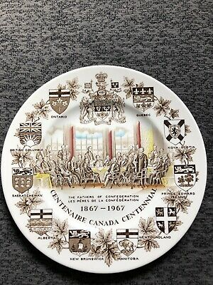 """The Fathers of Confederation 1867-1967, 10"""" Plate"""