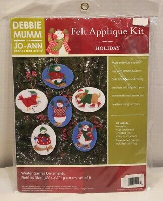 Dimensions Feltworks Felt Applique Snowman Animal Ornament KIT NEW #8160