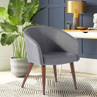 Modern Living Room Accent Chair Armchair Grey Occasional
