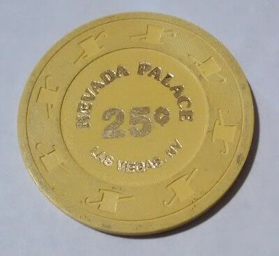 1980's NEVADA PALACE CASINO LAS VEGAS NEVADA .25 CENT CHIP GREAT FOR COLLECTION!
