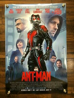 Ant-Man Movie Film Theatrical Double 2 Sided Poster 27x40 Marvel Paul Rudd D/S